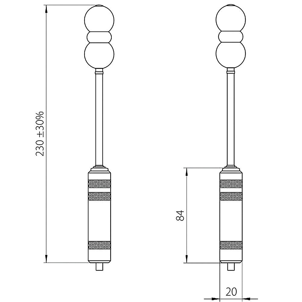 Remote probe for vaginal action EV01(w)