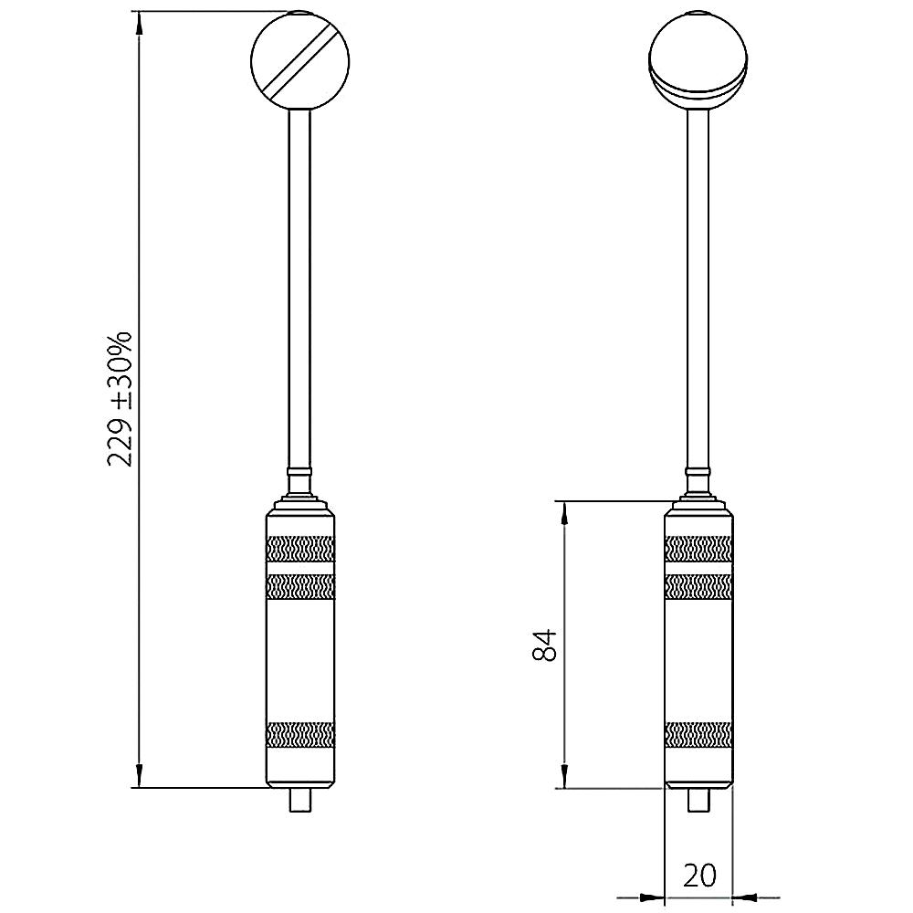 Remote probe for vaginal action EV01(z)