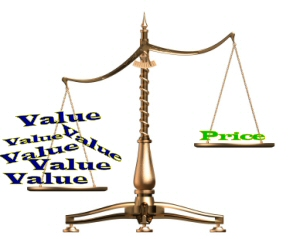 price value scales