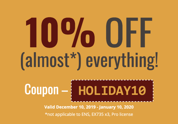 Holiday SPECIAL! 10% OFF (almost*) everything!